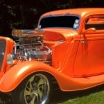 bright orange hotrod