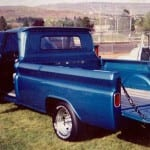 blue truck just painted